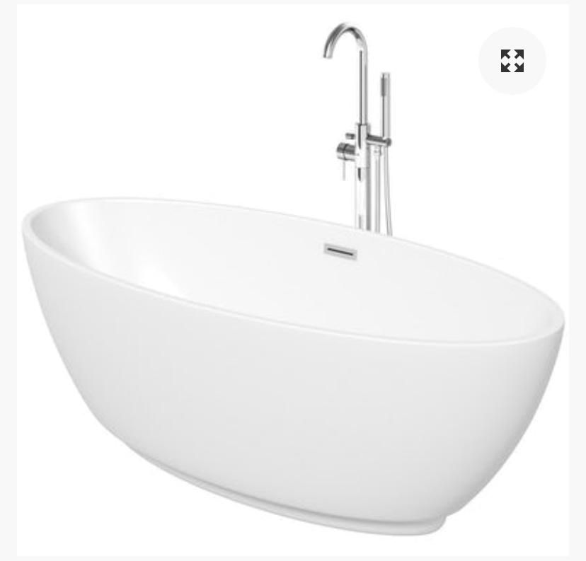 Free standing bath modern
